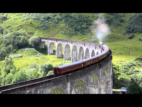 The Jacobite over the Glenfinnan Viaduct