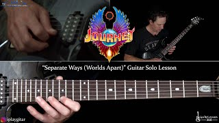 Journey - Separate Ways (Worlds Apart) Guitar Solo Lesson