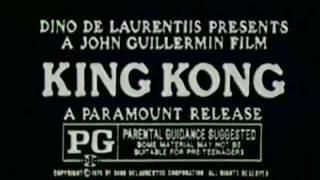 King Kong 1976 TV trailer