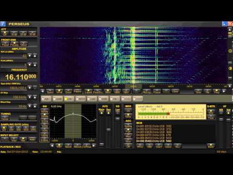 Radar, Unknown Pulsed Type, 16110 kHZ, October 27, 2012, 1345 UTC