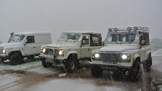 Land Rover Defenders Morvan Forest Snow Nov15 part1