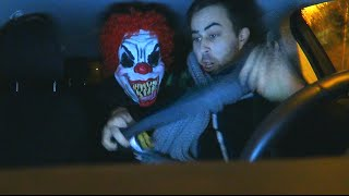Scary Clown Car Prank