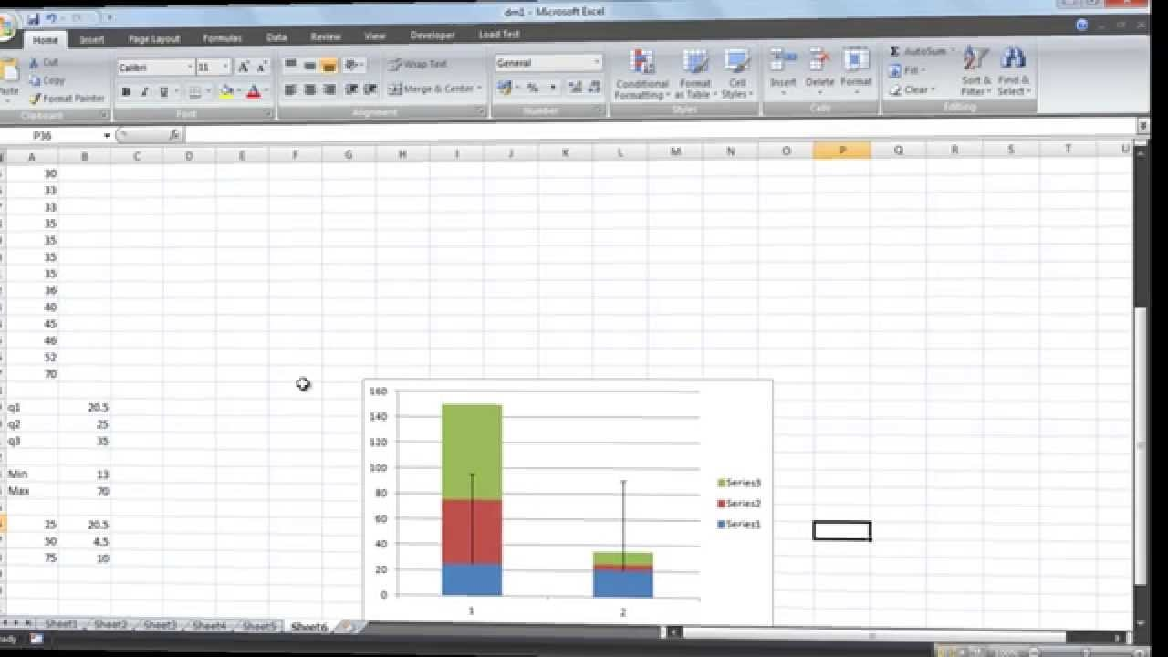 how to add boxplot to ms excel