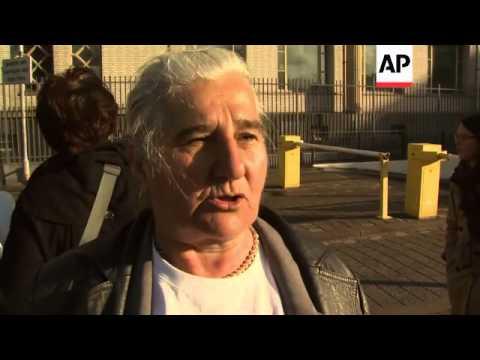 Mothers of Srebrenica arrive at court for Mladic's trial