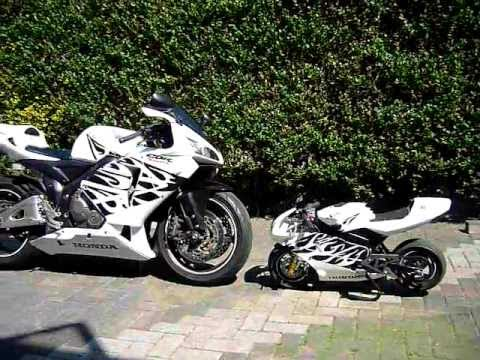Custom Honda Cbr 600 Rr And Custom Replica Minibike Youtube