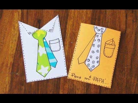 Manualidad tarjeta para el d a del padre manualidades - Manualidades para hacer tarjetas ...