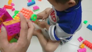 Infant toys puzzle - Volume truck assembly