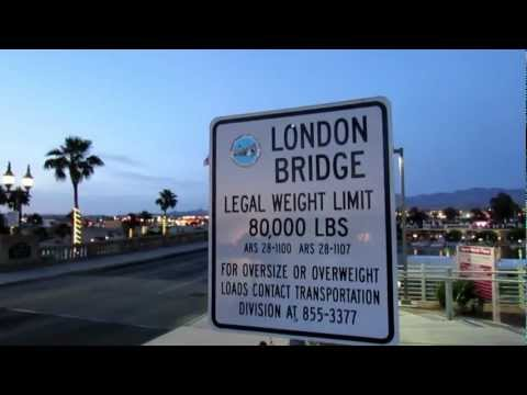 Lake Havasu City AZ ~ Beach Park & London Bridge [HD]