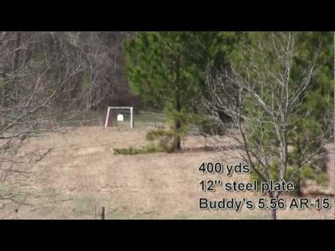 AR-15 400 yard steel targets from Bipods/ Long Range Precision Shooting