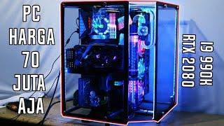 RAKIT PC SULTAN 70 JUTAAN CUSTOM WATERCOOLING | i9 9900K FT RTX 2080