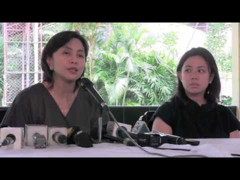 Atty. Leni Robredo press conference (part 1)