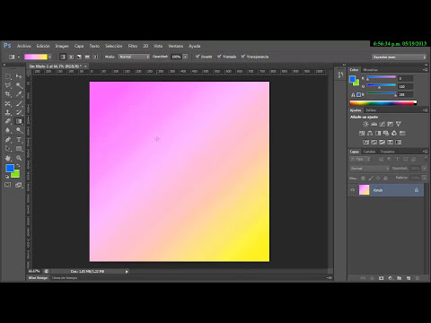 Photoshop CS6 Introductorio 16- Herramienta de degradado Gradient)