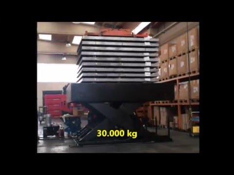 30000 kg scissor table