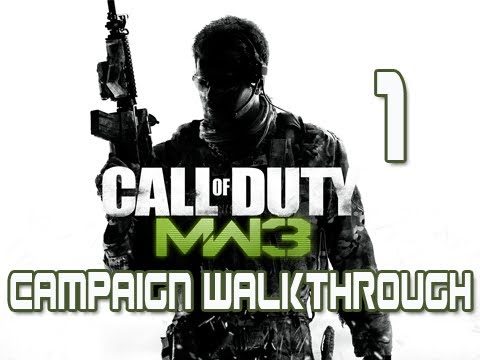 Modern Warfare 3: Campaign Walkthrough Pt 1 [Act 1] Mission 1 & 2 Let's Play MW3 Gameplay/Commentary
