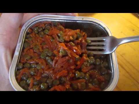 Мясо с Зеленым Горошком и Овощами Рускон! Сухой Паек  ИРП  Б