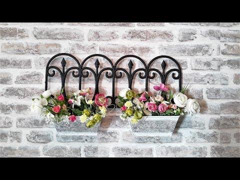 ПОДВЕСКА ДЛЯ ЦВЕТОВ...How to mke pots for flowers