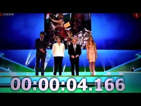 Sepp Blatter is disrespectful to Nelson Mandela he interrupts a minute's silence