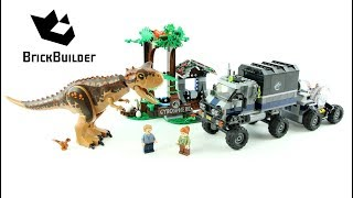 Lego Jurassic World 75929 Carnotaurus Gyrosphere Escape - Lego Speed build