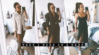 WHAT I WORE IN A WEEK | Hello October