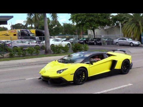 Lamborghini Aventador LP720 4 Supercar Hard Acceleration Best Exhaust Sound