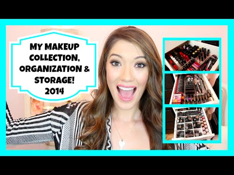 Makeup Collection, Storage & Organization + Nails, Hair and Skin Products! {Updated 2014}