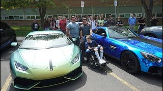 Surprising A MIDDLE SCHOOLER With Supercars!!