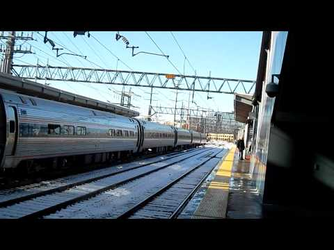 The day after the Northeast Fall Winter Snow Storm Railfanning 10/30/11