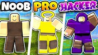 Booga Booga NOOB vs PRO vs HACKER in ROBLOX