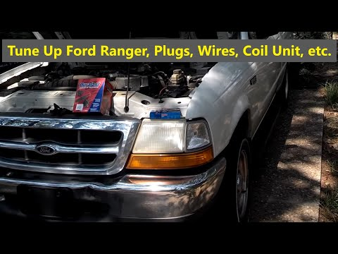 Ford Ranger Tune Up Spark Plugs. Wires. and Ignition Distributor Module Replacement - Auto Repair