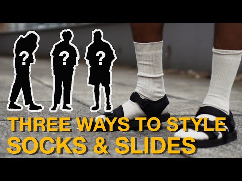 3 WAYS TO STYLE: SOCKS & SLIDES | Sangiev