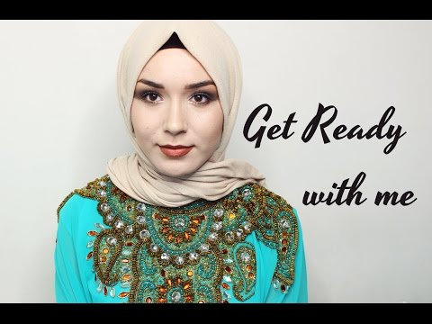 Get Ready With Me | Occasional Wear Makeup,hijab & Outfit video