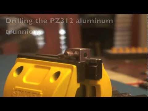Drilling the PZ aluminum trunnions