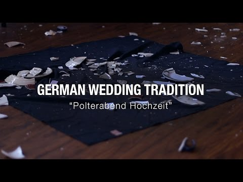 Polterabend Hochzeit, a German Wedding Tradition of SMASHING PORCELAIN!