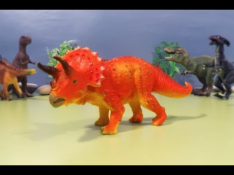 Dinosaurs Toys Fighting - Dinosaur Eggs Surprise - Dino Cars - Triceratops, Stegosaurus, T-Rex