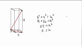 Rectangular Prisms and the Pythagorean Theorem