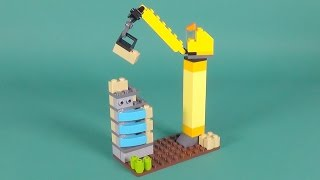 "Lego Tower Crane Building Instructions - Lego Classic 10697 ""How To"""