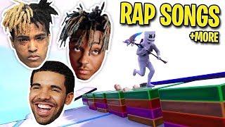 We Recreated Popular Rap Songs Using Music Blocks In Fortnite Mo Bamba Lucid Dreams Sad More