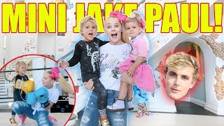 BABYSITTING MINI JAKE PAUL AT THE TEAM 10 HOUSE....