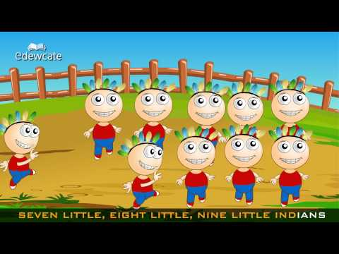 Edewcate english rhymes – Ten little Indians