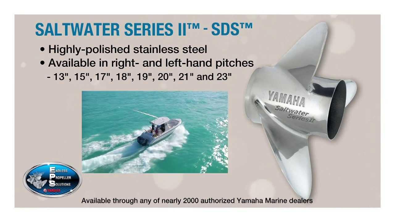 Saltwater series ii sds propeller youtube for Yamaha saltwater series ii