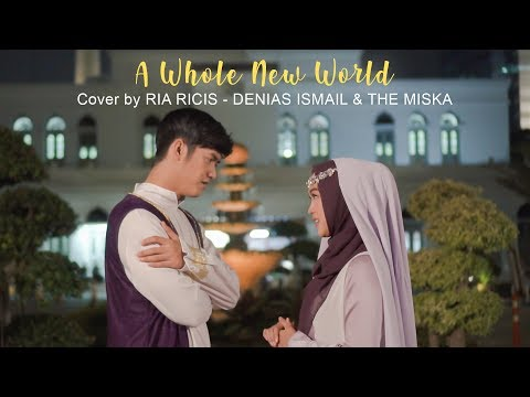 Download A Whole New World Cover From ALADDIN - Cover by  Ria Ricis, Denias Ismail & The Miska Mp4 baru