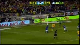 Sweden vs Brazil  0-3 Pato pen 2nd goal 15th aug 2012