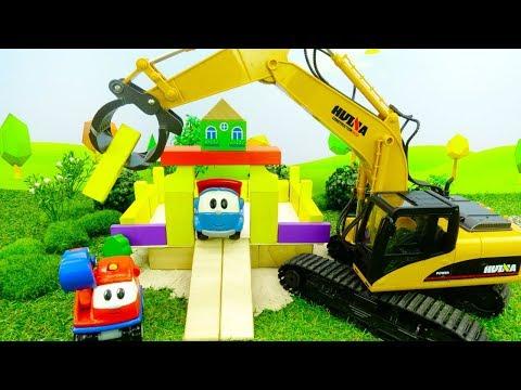 Видео для мальчиков. Грузовичок Лева и машинки строят школу