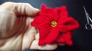 Floare crosetata cu 6 petale