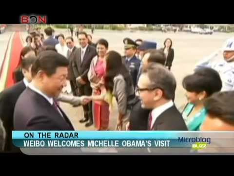 Weibo welcomes Michelle Obama's visit - Microblog Buzz - March 6,2014 - BONTV China