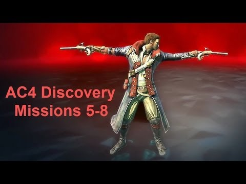 AC4 Wolfpack Assassin's Creed 4 Black Flag Multiplayer - Discovery Missions 5-8 Tutorial. Achievement unlock.