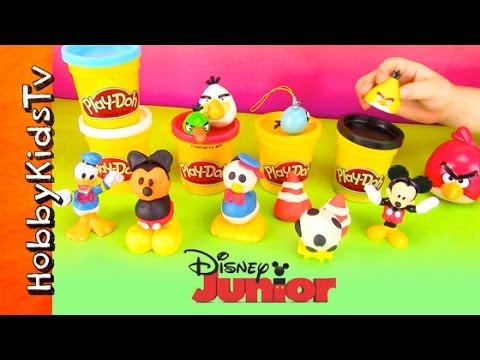 Disney PLAY-DOH Toy Surprise Eggs! Mickey Mouse, Donald Duck [Makeables] [Angry Birds] [MLP]