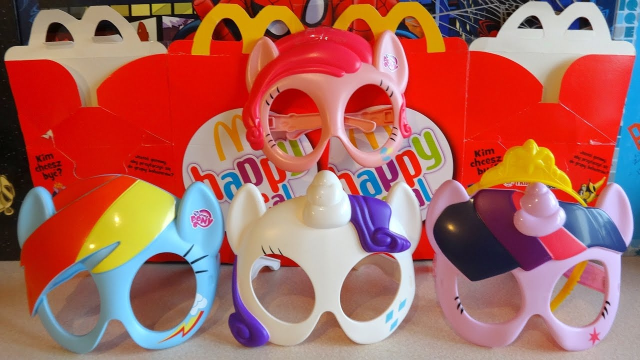 Little Pony Mask Complete Set In Happy Meal Mcdonalds Europe