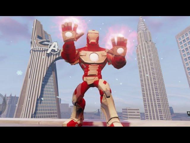 disney infinity 20 iron man mark 42 gameplay stark arc
