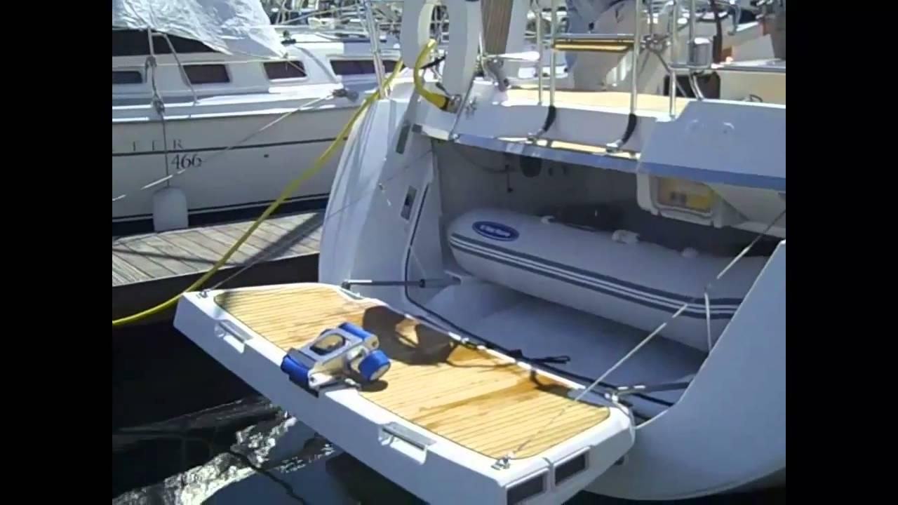 Jeanneau Yacht 57 Sailboat Tender Dinghy Garage
